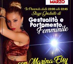 Stage gratuito di Gestualità e Portamento con Marina Elsy