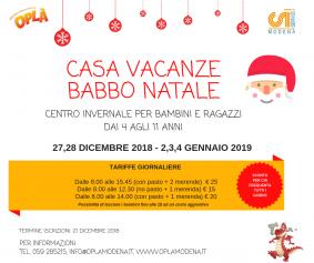 Natale: centro invernale per bambini 4-11 anni
