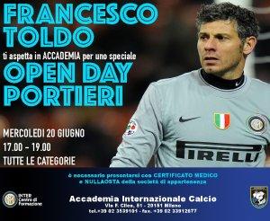 Open Day Accademia Internazionale PORTIERI con FRANCESCO TOLDO!