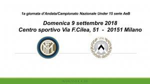 F.C. INTERNAZIONALE U15 vs UDINESE CALCIO U15