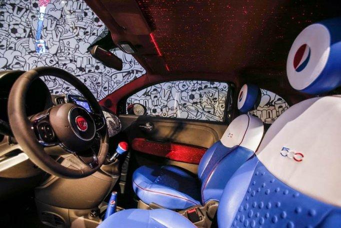 Fiat 500 Pepsi di Garage Italia Customs powered by DreamLux