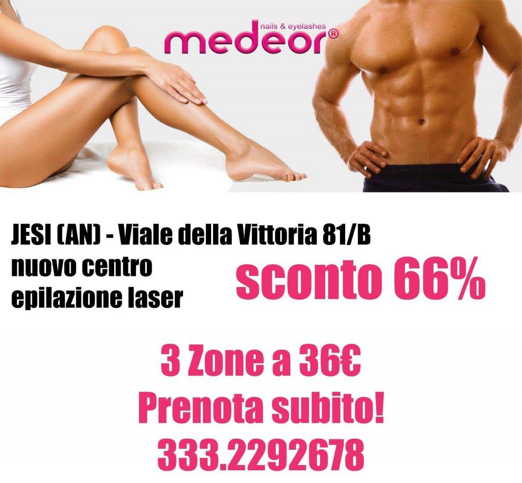 Sconto 66% Epilazione Laser   Medeor Center   Jesi, Viale della Vittoria, 81/B   Tel. 3332292678   Offerta valida fino al 19/01/18