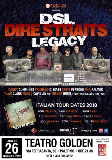 Il 26 novembre al Teatro Golden di Palermo fa tappa  il Dire Straits Legacy World Tour