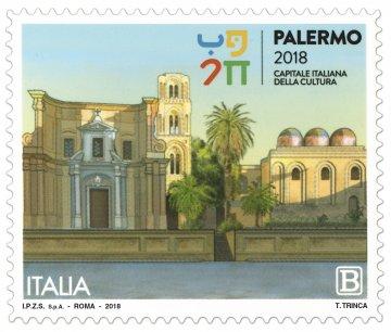 Palermo Capitale Cultura 2018, un francobollo celebra la città