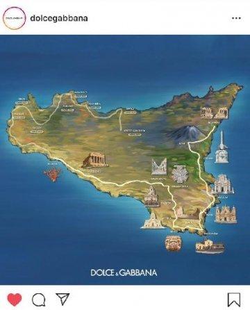 Dolce & Gabbana ridisegnano la mappa della Sicilia. Con le bag