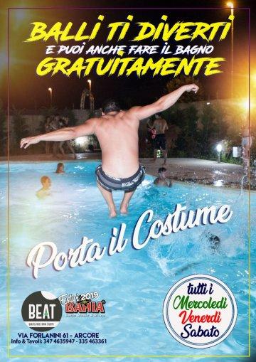 Ogni Mercoledì, Venerdì e Sabato Portate il costume in quanto la piscina è attiva e gratuita!