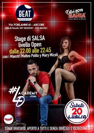 Stage gratuito di Salsa aperto a Tutti con i Maestri Matteo Polito e Mary Miceli