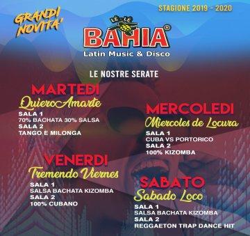 Programma nuova stagione 2019/2020 del Le Le Bahia di Lissone