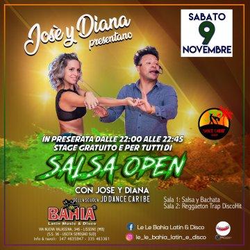 Stage gratuito di Salsa open con Josè e Diana by JD dance caribe