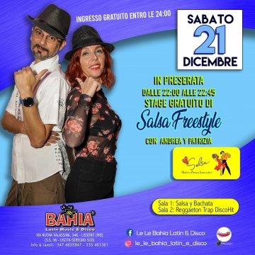 In preserata, stage gratuito di Salsa Freestyle con Latin school