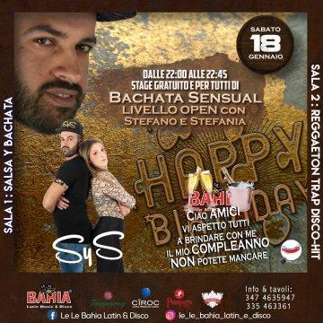 Stage gratuito di Bachata Sensual con Stefano Balla e Stefania Terreni by SyS