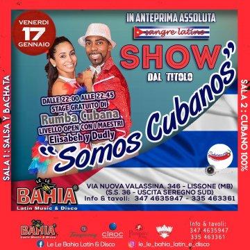 In preserata, Stage Gratuito di Rumba Cubana aperto a tutti e Show in anteprima assoluta con i Maestri de Cuba Elizabeh e Dudley by Sangre Latino