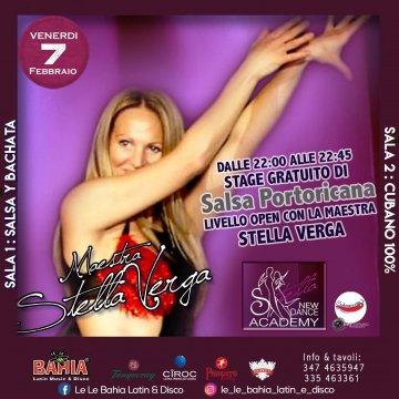 Stage Gratuito di Salsa Portoricana aperto a tutti con la Maestra Stella Verga by New Dance Academy