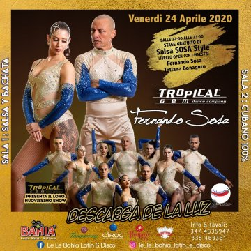 Stage gratuito e nuovissimo show con Fernando Sosa y Tropical Gem