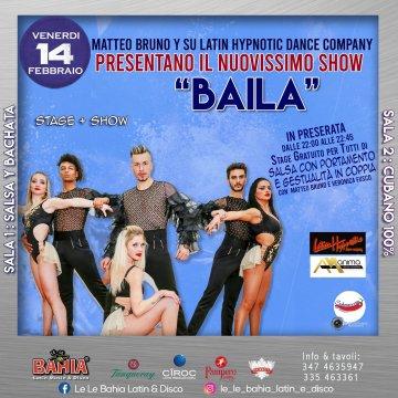 Show & Stage Gratuito per tutti di Salsa con portamento e gestualità di coppia con i Maestri Matteo Bruno e Veronica Fusco