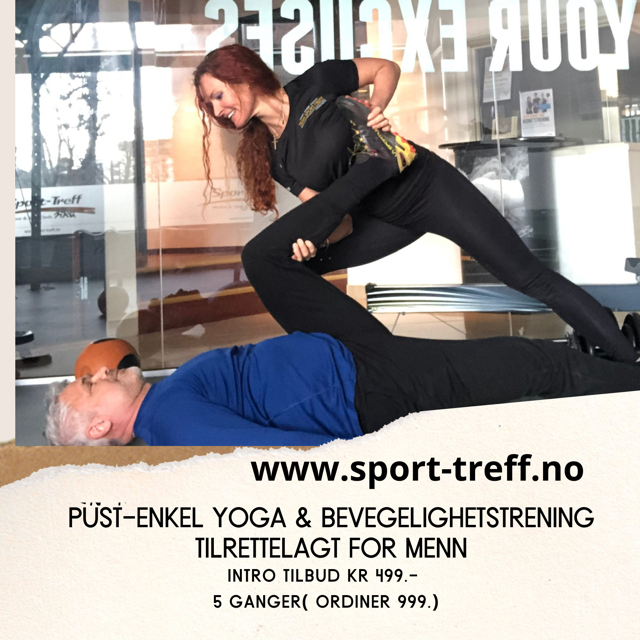 Pust-Mobilitet  & enkel yoga for MENN