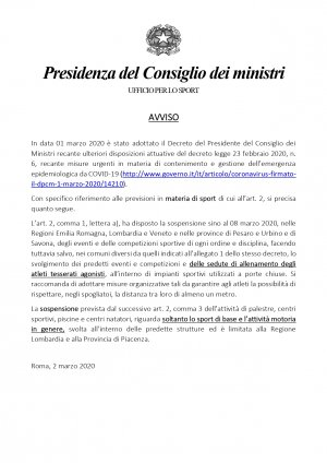 COMUNICAZIONE CONSIGLIO DEI MINISTRI