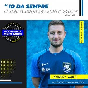 Accademia Night Show: l'ospite è Andrea Corti!