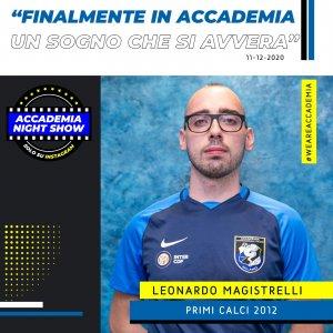 Accademia Night Show: l'ospite è Leonardo Magistrelli