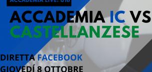 Accademia Live: giovedì in diretta Facebook Accademia IC-Castellanzese