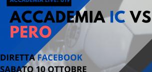 Accademia Live: sabato alle 17.00 in diretta il debutto della Juniores contro il Pero