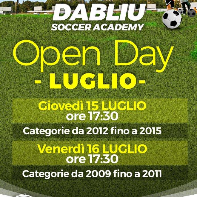 Open Day Dabliu Soccer Academy a Dabliu Colli d''oro