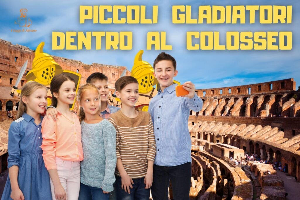 Piccoli gladiatori al Colosseo