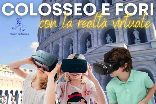 Dal Colosseo ai Fori con i visori della realtà virtuale