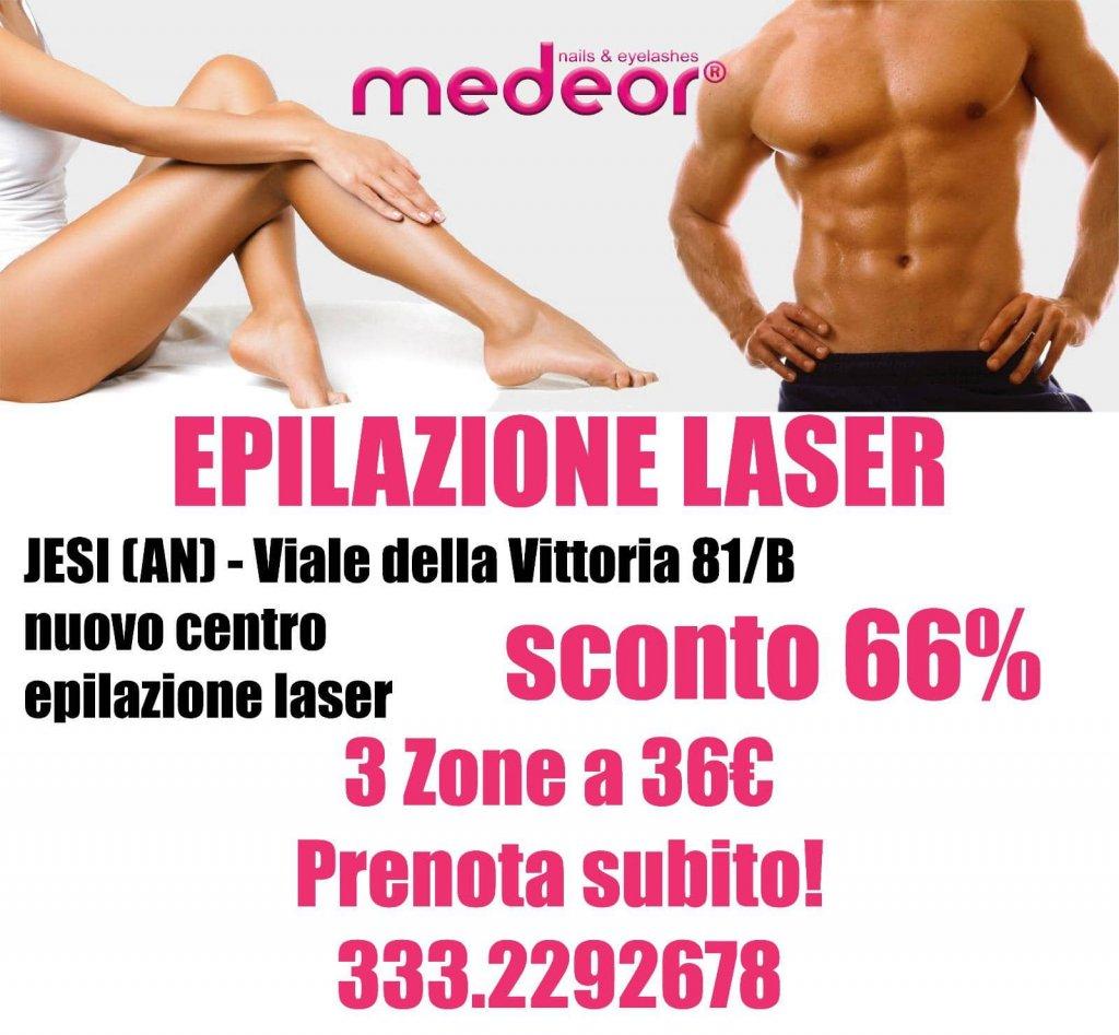 Sconto 66% Epilazione Laser | Medeor Center | Jesi, Viale della Vittoria, 81/B | Tel. 3332292678 | Offerta valida fino al 31/10/18