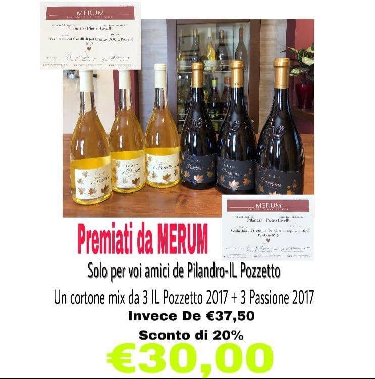 Castelpanio - Sconto 20% 6 bottiglie di vino | Il Pozzetto Pilandro | Castelplanio, Via G. Oberdan, 3 | Tel. 0731814584 | Offerta valida fino al 31/08/2018