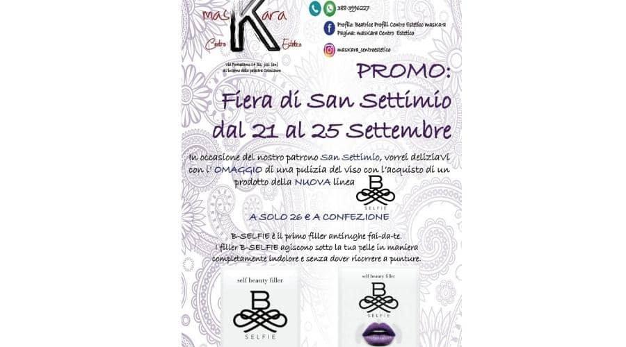 Jesi - Promozione San Settimio   Centro Estetico MasKara   Jesi, via Fontedamo 14bis   Tel. 388 3996227   Offerta valida dal 21 al 25/09/18