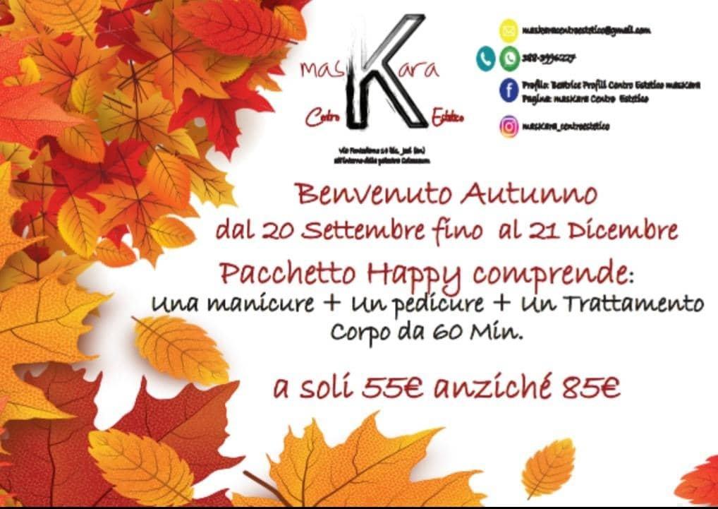 Jesi - Sconto 35% Pacchetto Happy | Centro Estetico MasKara | Jesi, via Fontedamo 14bis | Tel. 388 3996227 | Offerta valida dal 20/09 al 21/12/18