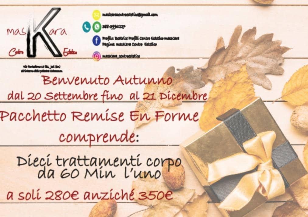 Jesi - Sconto 20% Pacchetto Remise en Forme | Centro Estetico MasKara | Jesi, via Fontedamo 14bis | Tel. 388 3996227 | Offerta valida dal 20/09 al 21/12/18