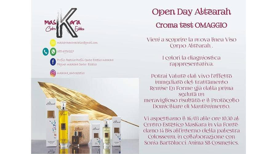 Jesi - 16 marzo: Open Day Altearah! | Centro Estetico MasKara | Jesi, via Fontedamo 14bis | Tel. 388 3996227 | Offerta valida il 16/03/19