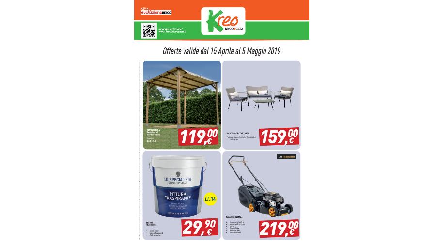 Jesi - Volantino Offerte dal 15 Aprile al 5 Maggio | Kreo Brico&Casa | Jesi, V.le Don Minzoni, 20/b | Tel. 0731207599