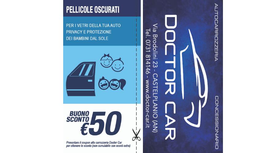 Castelplanio - Buono Sconto 50 euro Pellicole Oscuranti   Doctor Car   Castelplanio, Via Brodolini, 23   Tel. 0731814146   Offerta valida fino al 31/07/19