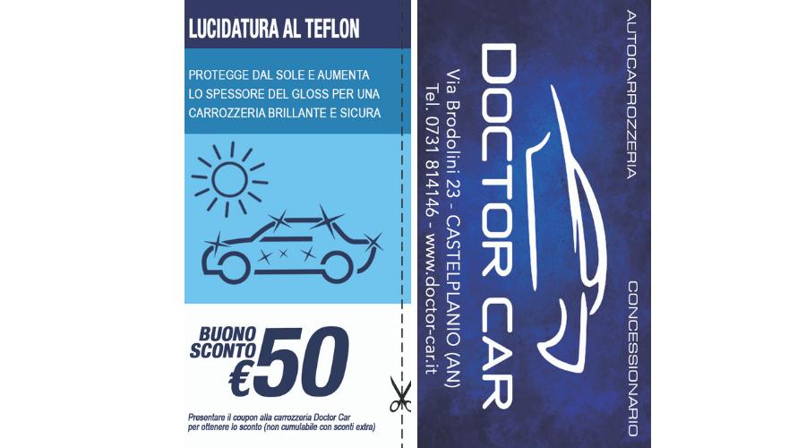 Castelplanio - Buono Sconto 50 euro Lucidatura al Teflon | Doctor Car | Castelplanio, Via Brodolini, 23 | Tel. 0731814146 | Offerta valida fino al 31/07/19
