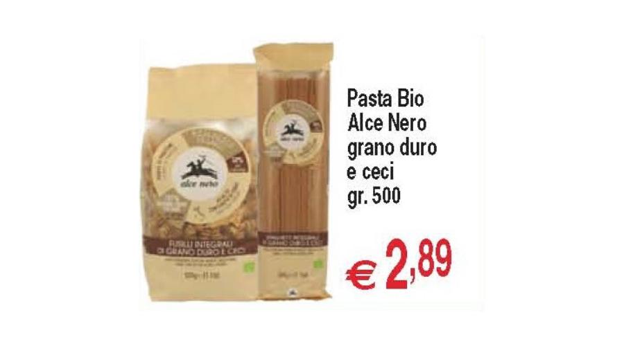 Castelplanio - Sconto 20% Pasta Bio Alce Nero Grano Duro e Ceci gr500 | Discount Centro Oceano | Castelplanio, Via del Commercio, 1 | Offerta valida fino al 9/12/19