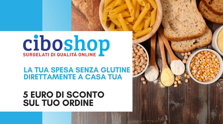 Jesi - Sconto 5 euro sulla Spesa Senza Glutine | CiboShop | Tel. 371 4834462