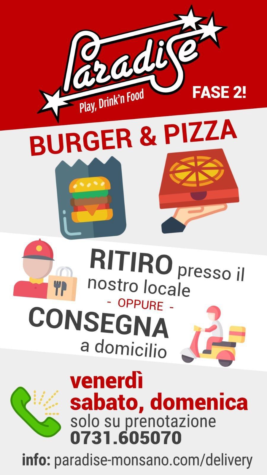 Monsano - Servizio al Tavolo, Delivery e Take Away   Paradise Playcenter   Monsano, Via Emilia Romagna, 15   Tel. 0731605070