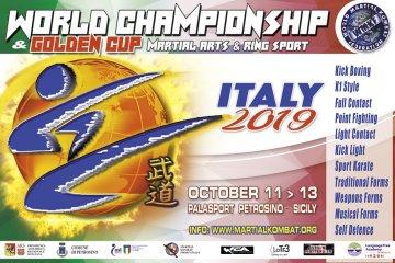 """A Petrosino i """"Campionati del Mondo & Golden Cup 2019"""" di Arti Marziali"""