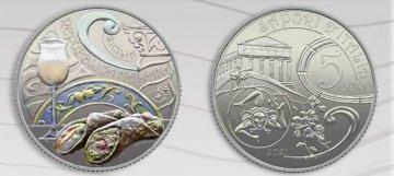 Cannoli e Passito sulle monete: la Sicilia nella nuova collezione della Zecca