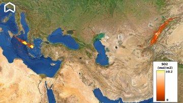 La nube dell'Etna arriva fino in Cina: le immagini dal satellite
