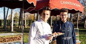 Alessandro e Ivan, pasticcieri ambulanti: a Milano il cannolo siciliano gira nel