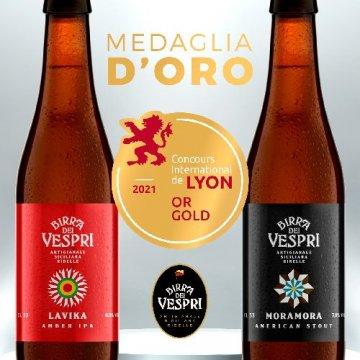 Birra dei Vespri vince due medaglie d'oro al Concours de Lyon