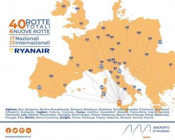 Voli Ryanair da Palermo: per l'estate 2021 il più grande operativo di sempre