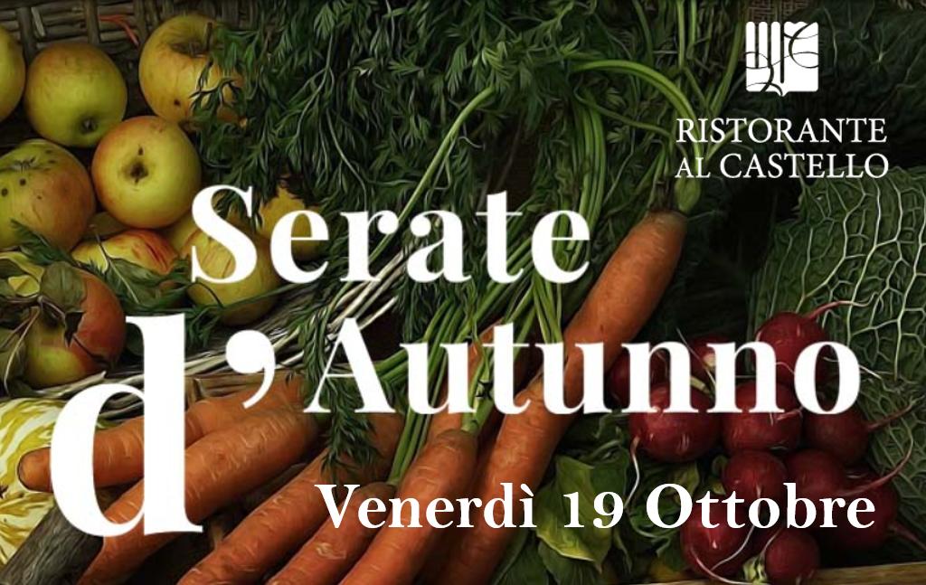 Degustazione IL MARE - Serate D'autunno, Venerdì 19/10