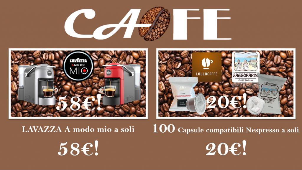 Super OFFERTA Cafegbitalia! 100 Capsule compatibili a soli € 20,00!