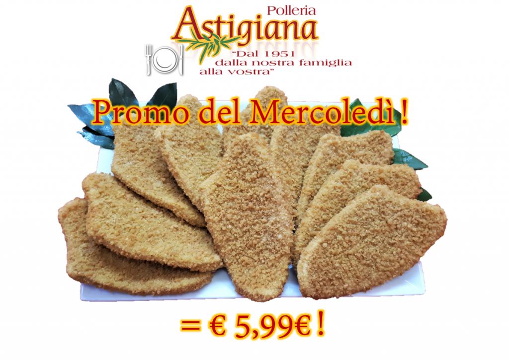 Promo del Mercoledì! Petto di pollo e Tacchino impanato a soli € 5,99 !!!