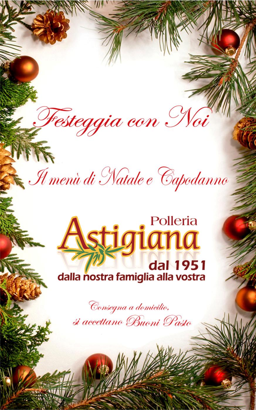 Polleria Astigiana vi augura Buone Feste! Menù di Natale e Capodanno